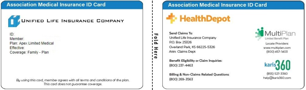 Apex Limited Medical ID card