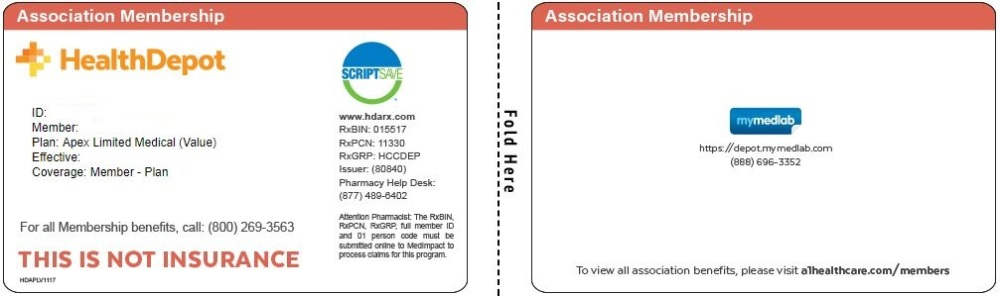 Apex Limited Medical Value Association card