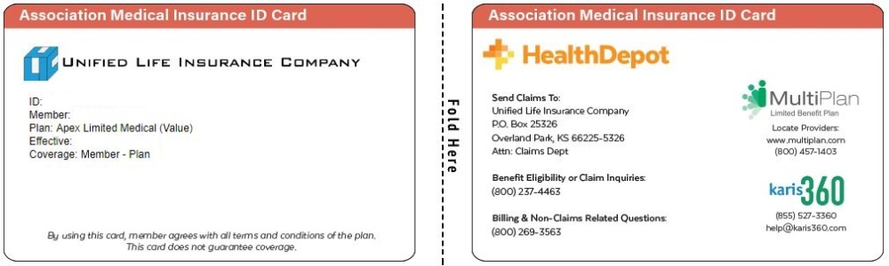 Apex Limited Medical Value ID card